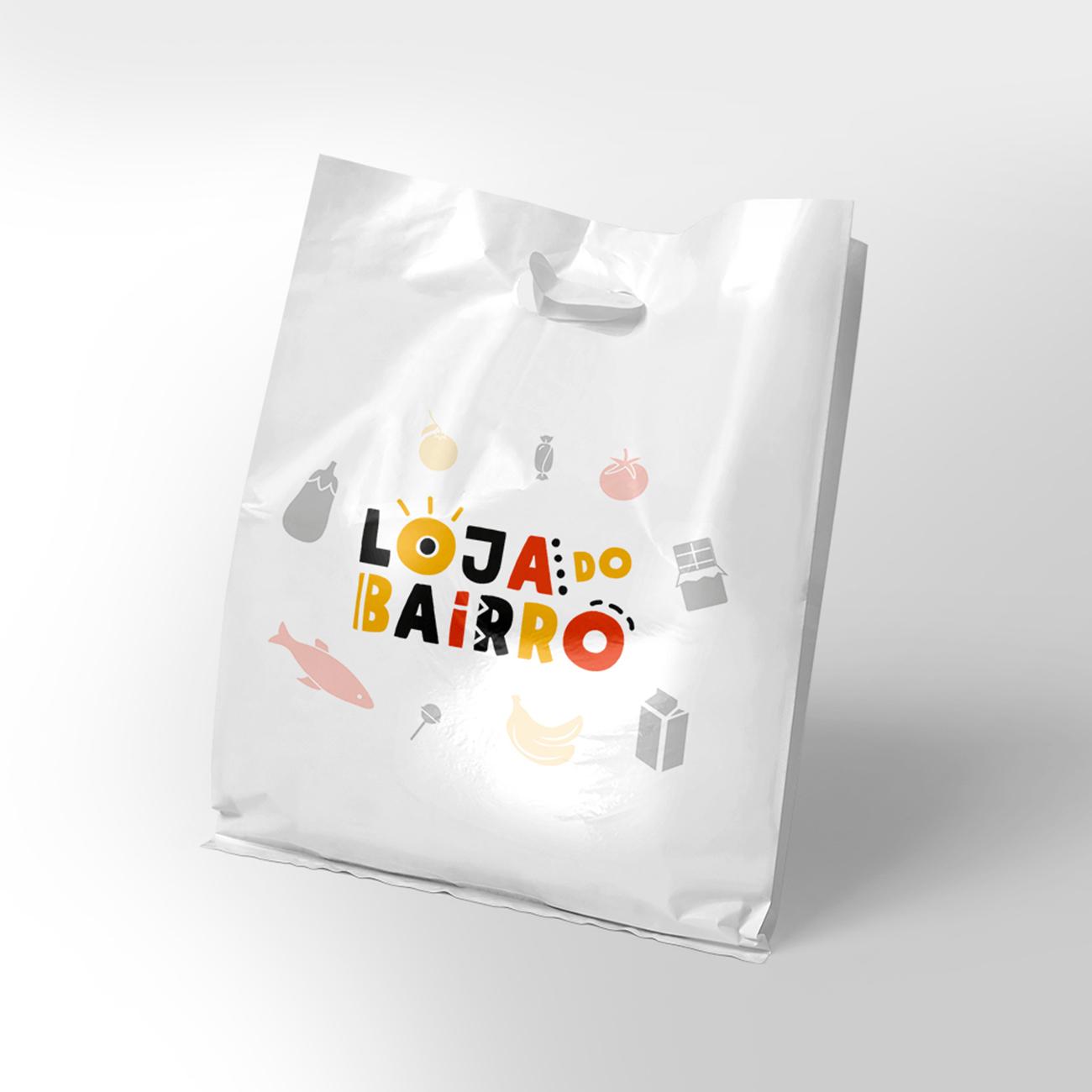 Logotipo com simulação em saco