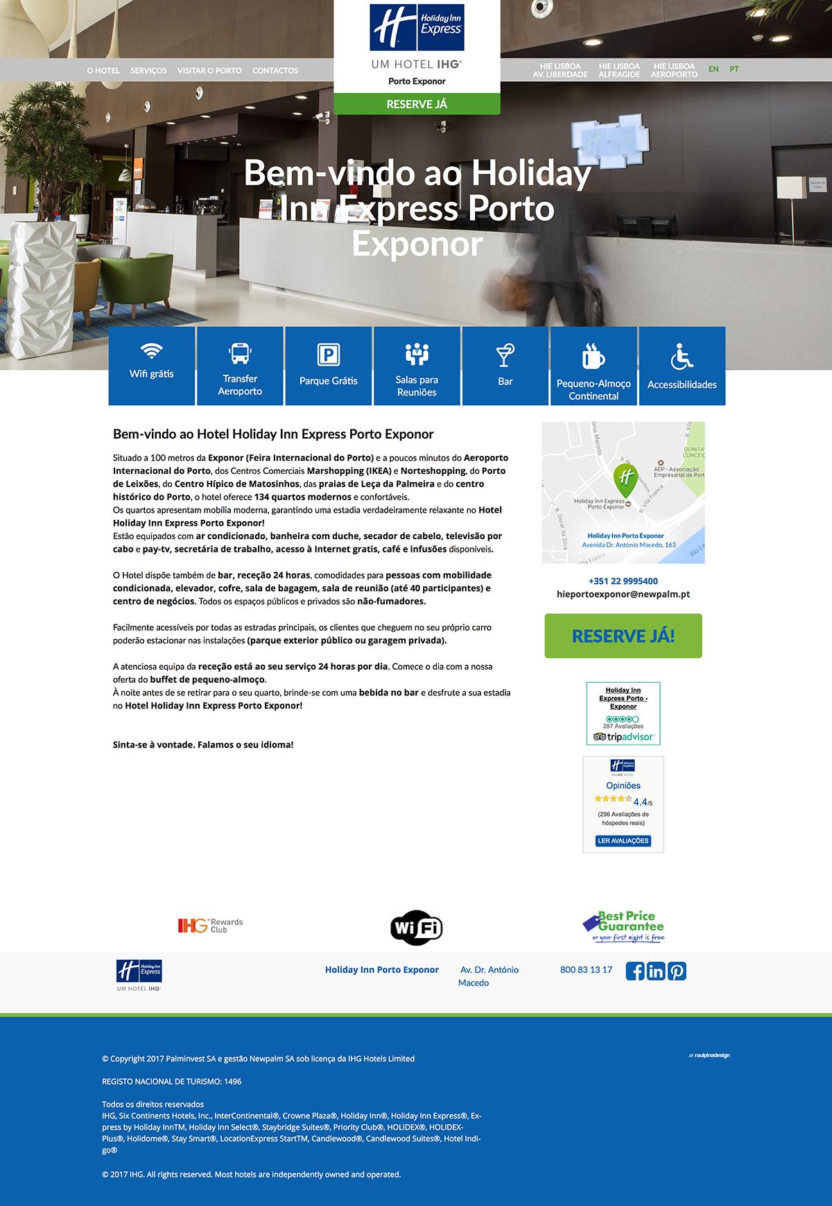 Holiday Inn Express . raulpinadesign