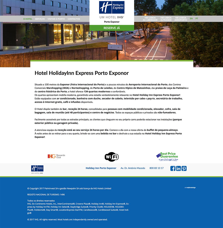 design gráfico Holiday Inn Express