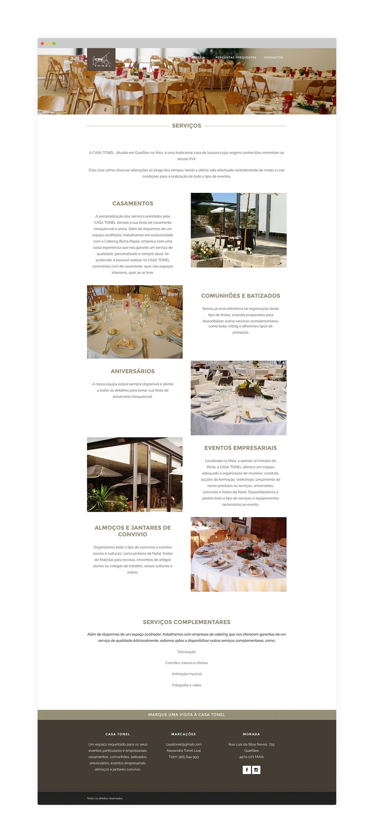 website empresa de casamentos