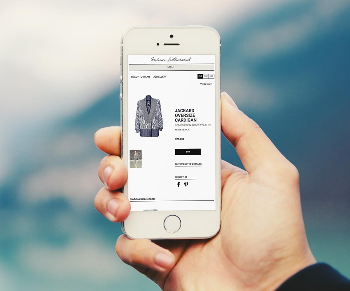 Lojas online e Websites mobile Moda