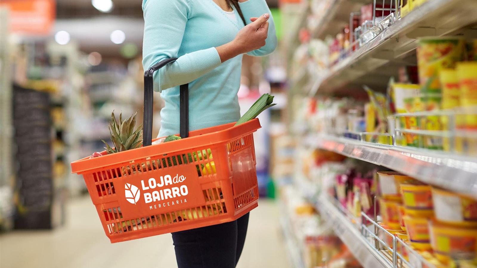 lojadebairro logotipo supermercado