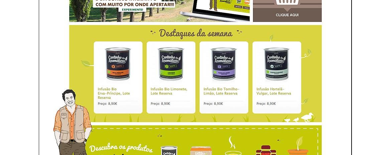 Detalhe loja online Agricultura biológica - cantinho das aromaticas