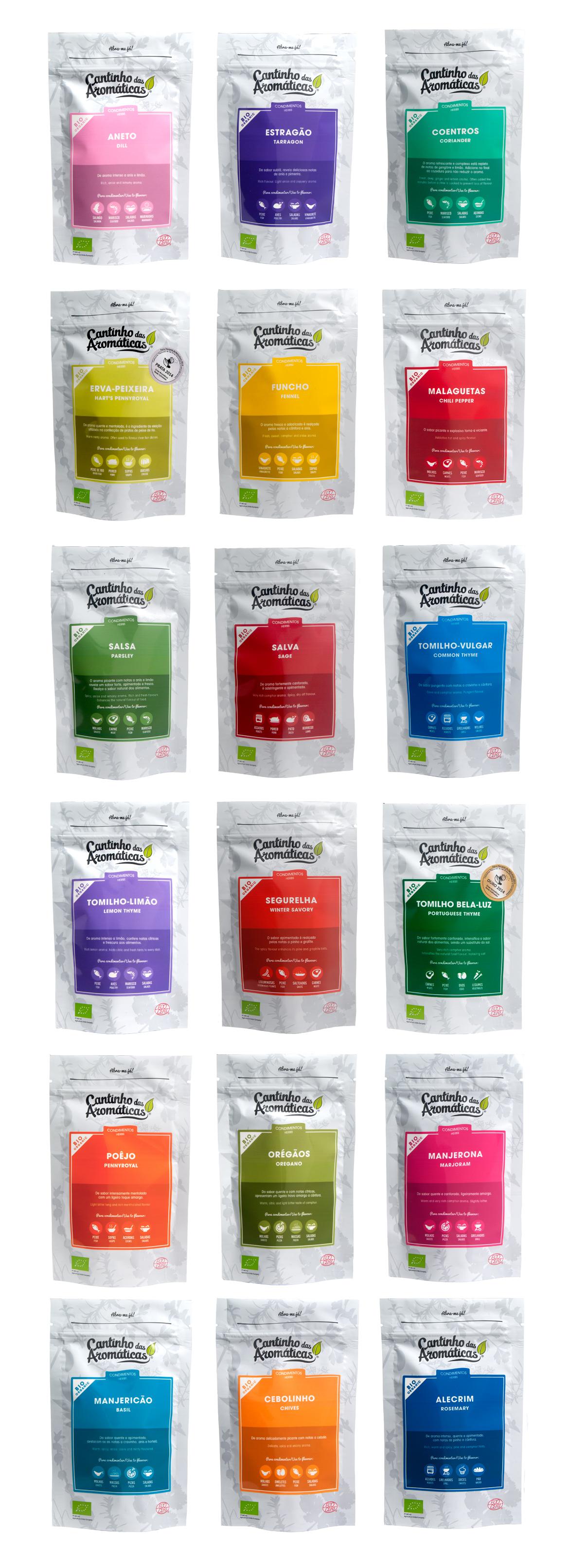 Design gráfico embalagem produção biológica